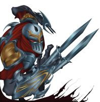 Zed The Master Of Shadows WIP by BenJi2D