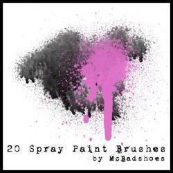 Spray Paint Brushes by mcbadshoes