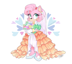 Amy the Bride [Link to Speedpaint] by cloudypouty
