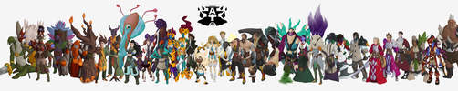 Abyssal Tower Character Lineup by DevisedLateott