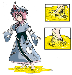 Yuyuko's sticky problem ! by Incompleteusername01