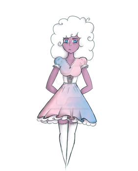 Cotton Candy Lady by toastydraws3012