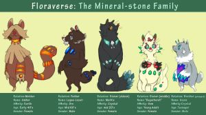 Sugar Burst and her family- The Mineral Stone by procon-8