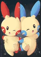 Plusle and Minun Helping hand!