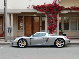 Porsche Carrera GT in silver at Cannery Row by Partywave
