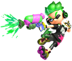 Green Inkling - Splatoon 2 by DarkMario2