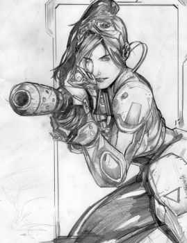 Kerrigan-starcraft 2 pencils by JerooKaskeroo