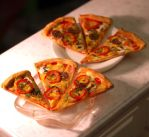 Miniature Pizza Slices by ChocolateDecadence