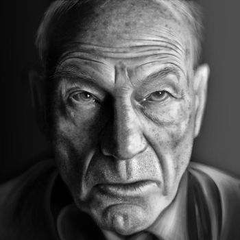 Patrick Stewart Drawing by JoeDieBestie