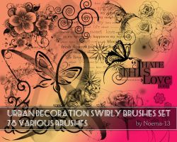 Urban decoration swirly brushes set by noema-13