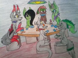 :Gift: Poker night by Illiterate-Swine