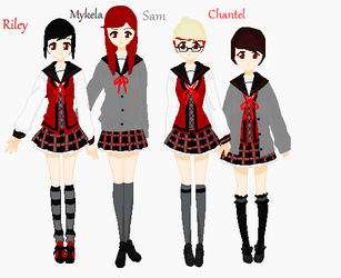 My friends and I At Private School by Cea-Robber-of-Souls
