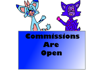 Commissions open stamp V.2 by MaraAnimations