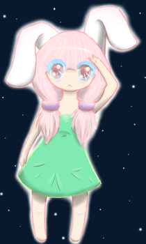 Space Bunny by Catmej
