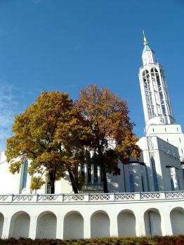 St. Roch's Church in autumn 01 by YarrowBadRabbit