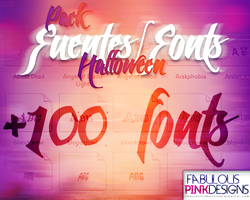 Pack Halloween FUENTES-FONTS by FabulousPinkDesignsW