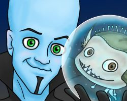 Megamind and his Minion by kelly42fox