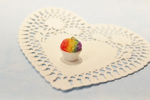 Polymer Clay Snow Cone Pendant by CharmStop