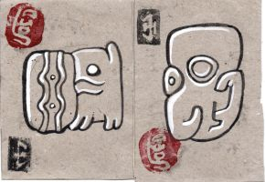 glyphs by LaughtonMcCry