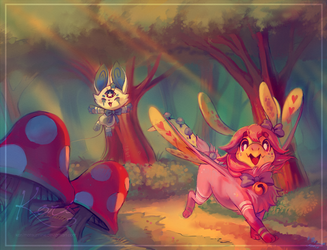 :commission: Forest Stroll by KoriArredondo