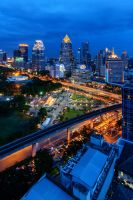 Bangkok Skyline2 by porbital