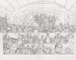 Stars 2 Page 8 and 9 Pencils by KurtBelcher1