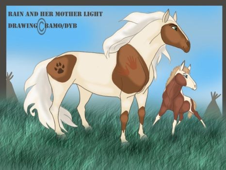 Rain and her mother Light by dyb