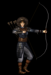 Female archer 3D model by Louis-Lux