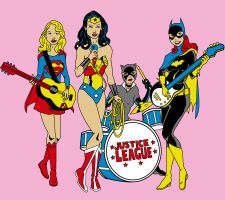 Justice League Band Girls by Mbecks14