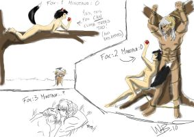 The Fox and the Minotaur 2 by wynjas