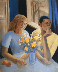 Couple with flowers by JuliuszLewandowski