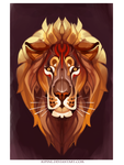 panthera leo by Kipine
