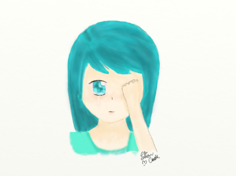 Crying blue by Shiacookie