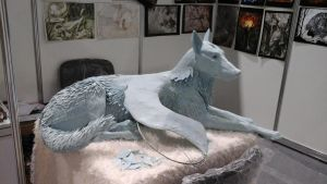 WIP life size winged wolf March by hontor