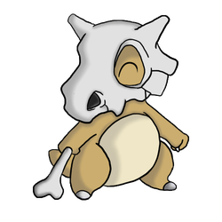 Cubone Commission by orangehouses
