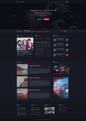 Music Web design - for sale by iEimiz