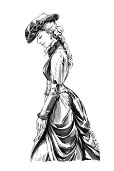 Inktober 2017 n18 - Victorian women by Sorka-of-Eawy