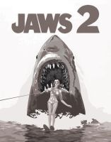 JAWS 2 Vectorized Movie Poster by hellSPAWN-KAHN