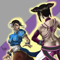 chun li vs juri by Gordomuro