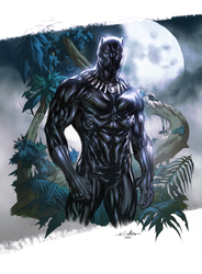 Black Panther (Coloring on Guile Sharp's line art) by danielmchavez