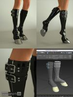Rubber PonyBoots for Genesis 3. by My-Rho
