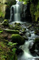 Lumsdale Waterfall 4 by MichaelJTopley