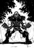 Darkseid Warm Up by KomicKarl