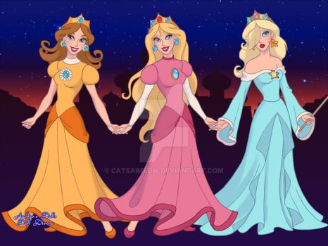 Mario's Princesses by CatsaiMeow