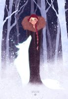 Sansa Stark + Lady by Joliet