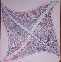 Zentangle Tile #2 by Dragonshadow3