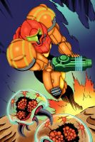 Samus Pin-up Colored by bubba-messa