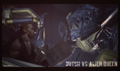 Dutch vs Alien Queen by OmniRoy