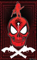 Deadpool Single Tap by artist Tom Kelly by TomKellyART