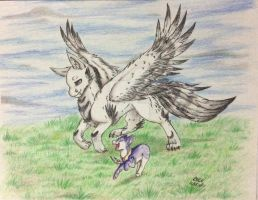 Art Trade~ We Will Fly Together Soon by Pokelobo